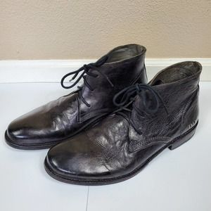 Bed/Stu Like New Black Leather Boots